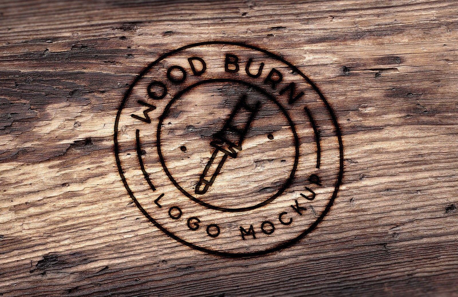 Wood Burn Logo Mockup Wood logo, Wood burning, Business
