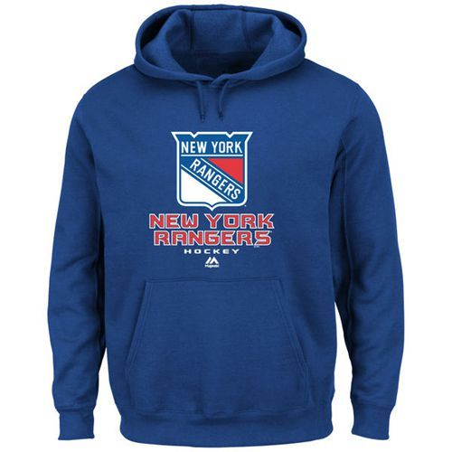 New York Rangers Majsetic Critical Victory VIII Pullover Hoodie Royal
