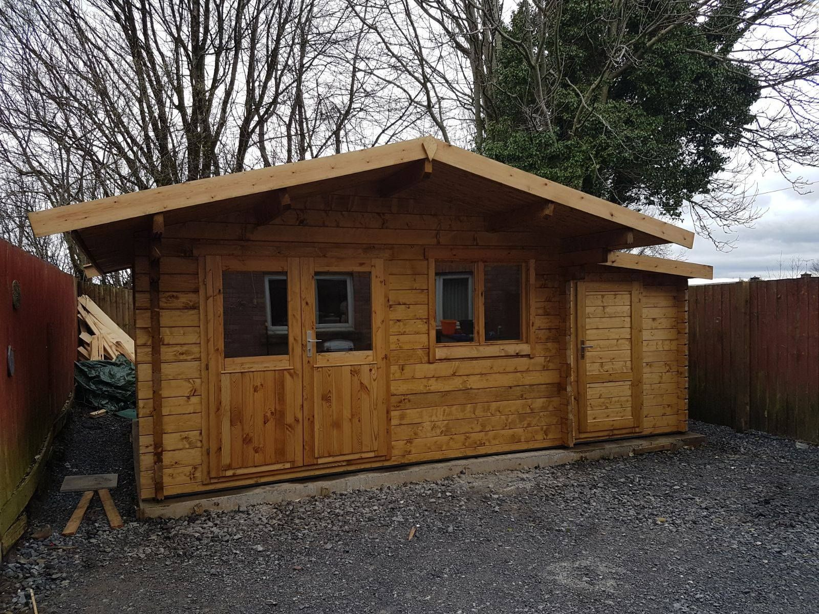 Stian Log Cabin 4 X 4m In 58mm Logs Double Glazed