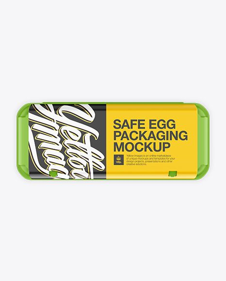 Download Matte Egg Container Top View In Packaging Mockups On Yellow Images Object Mockups Mockup Free Psd Free Mockup Free Psd Mockups Templates