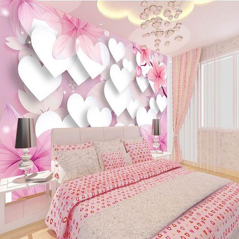 3d Wallpaper For Wall 3d Home Wallpaper Princess Children S Room Wallpaper Perspective Pink Romantic L Wall Wallpaper Beautiful Bedrooms 3d Wallpaper For Walls