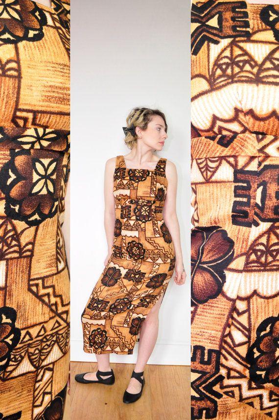 Vintage Hawaiian Dress 1960's