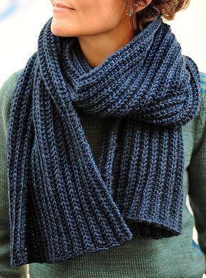 Free Knitting Pattern for No Purl Rib Reversible Scarf ...