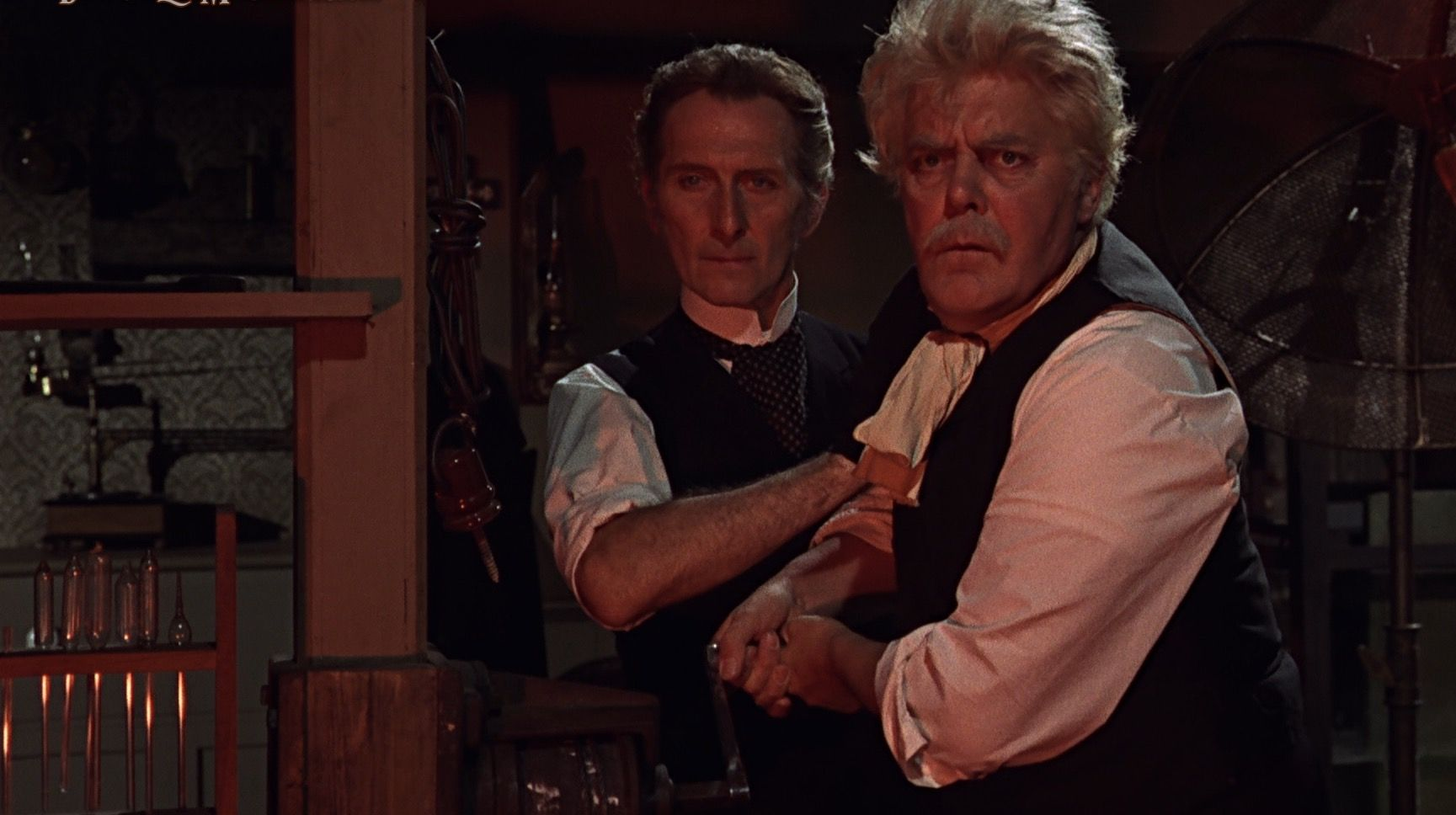 Peter Cushing and Thorley Walters in Frankenstein Created