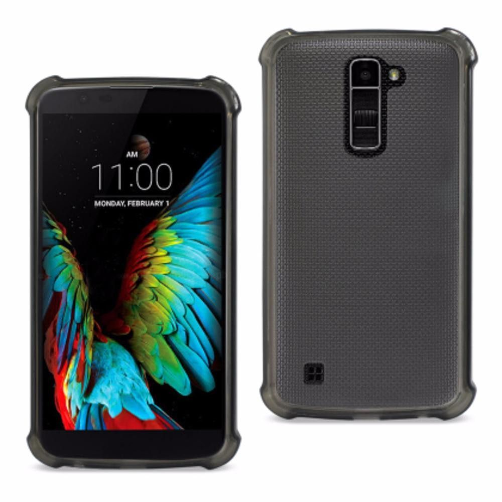 Reiko Lg K10 Transparent Tpu Case With Cushion Shock Absorption Technology Clear Black