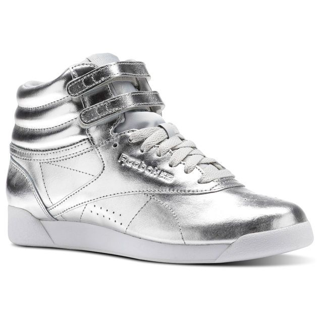 Reebok - Freestyle Hi Metallic   Shoes in 2018   Pinterest   Reebok ... 4e0c3c4149
