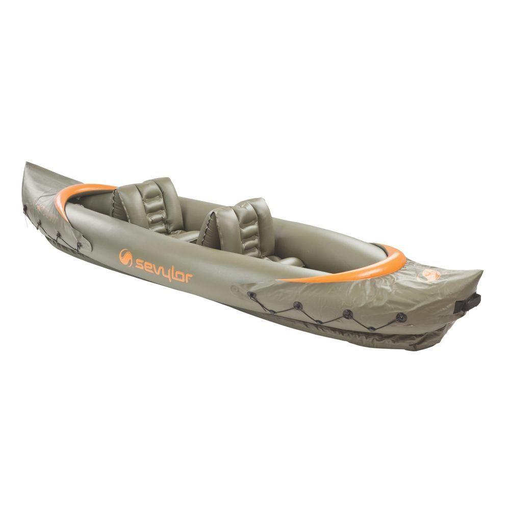 Sevylor Kayak Tahiti Two Person Inflatable Kayak Camping Fishing