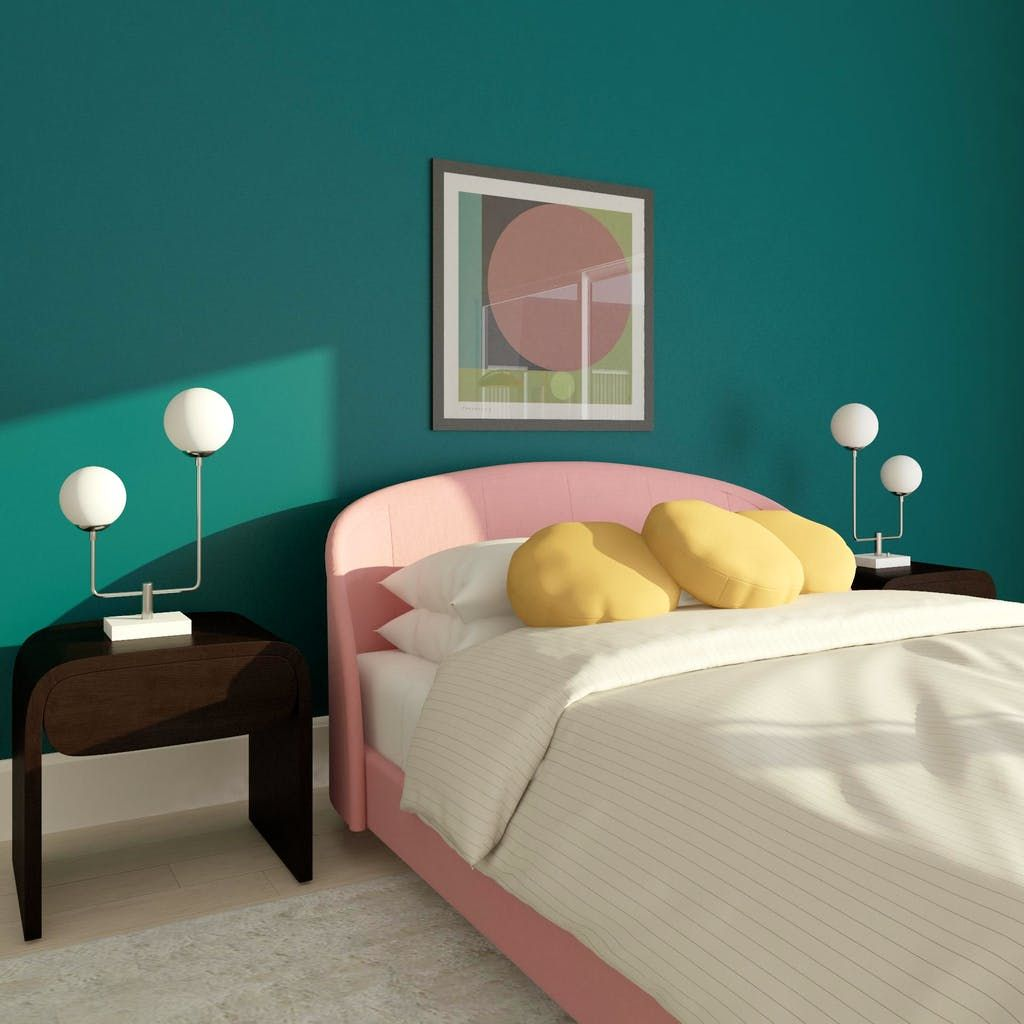 Power Play Minimalist Style Bedroom Design Ideas 80s Interior Design 1980s Interior Corner Fireplace Layout