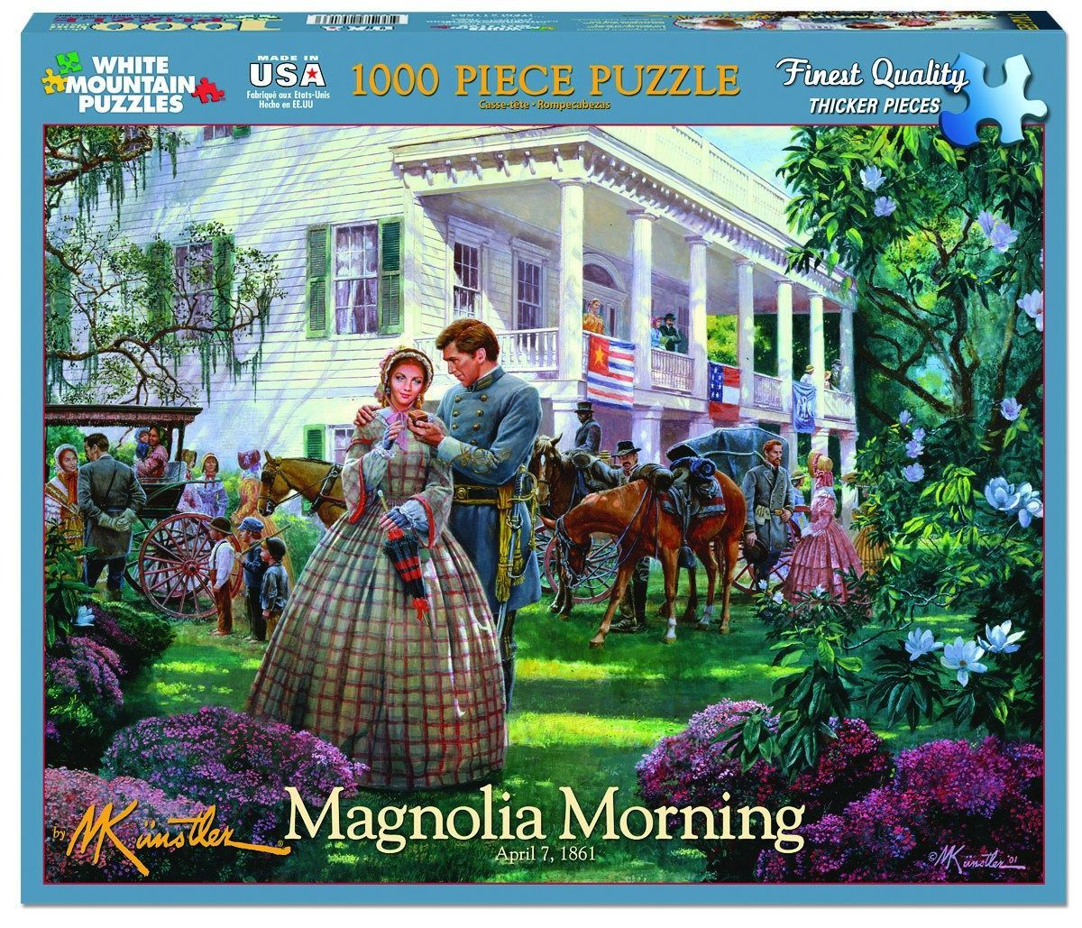 magnolia morning 1000 piece jigsaw puzzle products pinterest