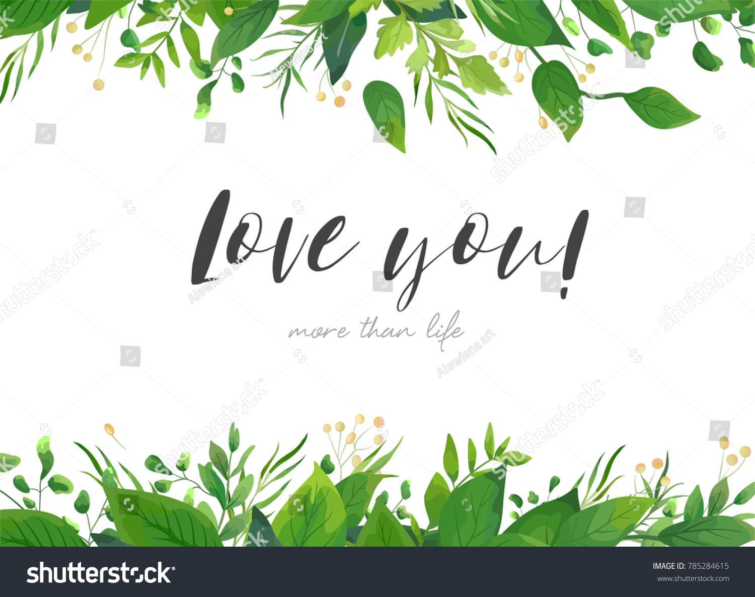 Vector card floral design with green watercolor fern leaves tropical vector card floral design with green watercolor fern leaves tropical forest greenery herbs decorative frame stopboris Choice Image