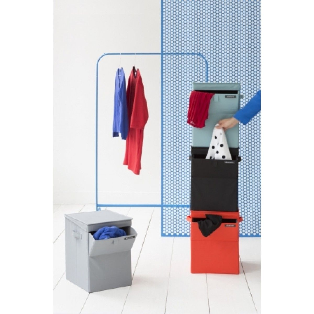 Brabantia Red Stackable Laundry Box For $58.95 | Kitchenware Superstore