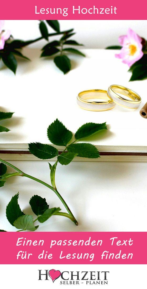 Lesung Zur Hochzeit
