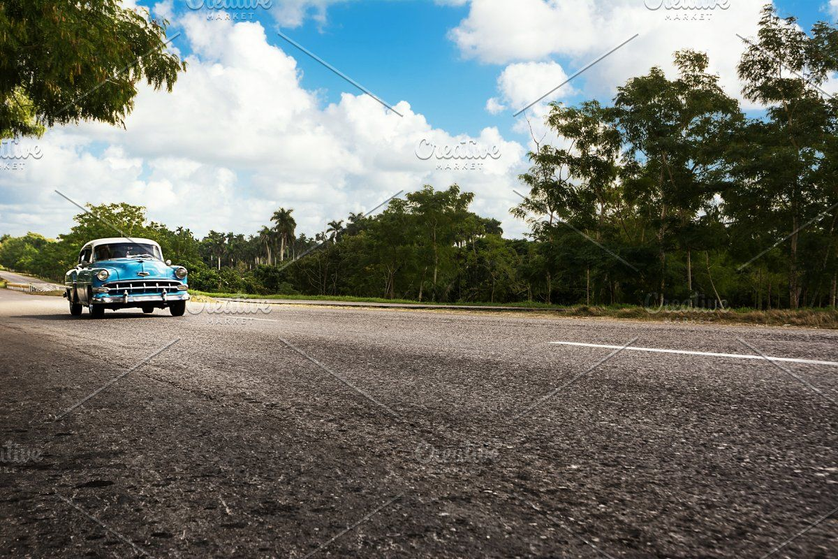 Red old and classical car in road of #Sponsored , #AD, #car#classical#Red#Cuba