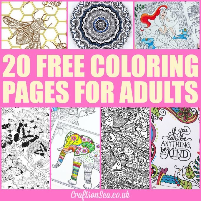 20-FREE-COLORING-PAGES-FOR-ADULTS.jpg (683×683) | Typography-Posters ...