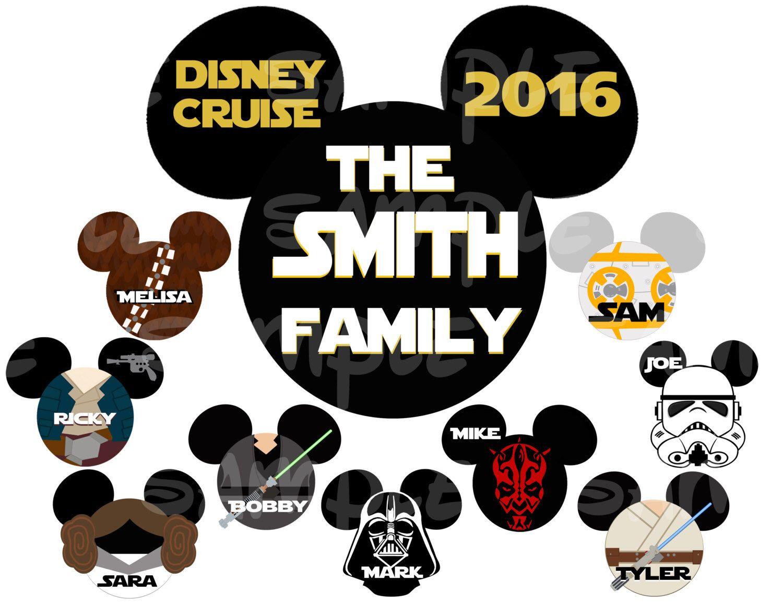 Star Wars Disney Custom Diy Printable Image For Iron On