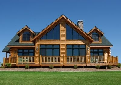 single story Chalet 3200 square foot chalet 2 Story hybrid log