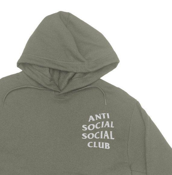 1 Day Sale Anti Social Club Hoodie Anti Social Social Club Sweatshirt Kanye West Hoodie Paranoid Anti Social Social Club Club Sweatshirts Yeezy Hoodie