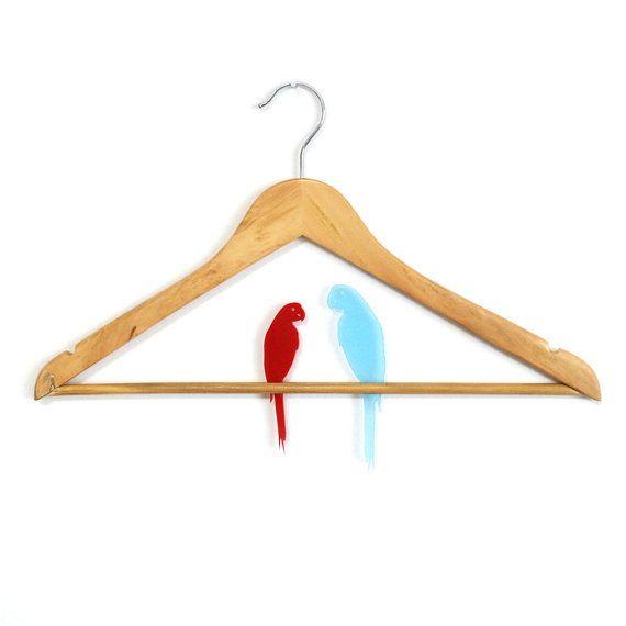 Parrot clothes hanger