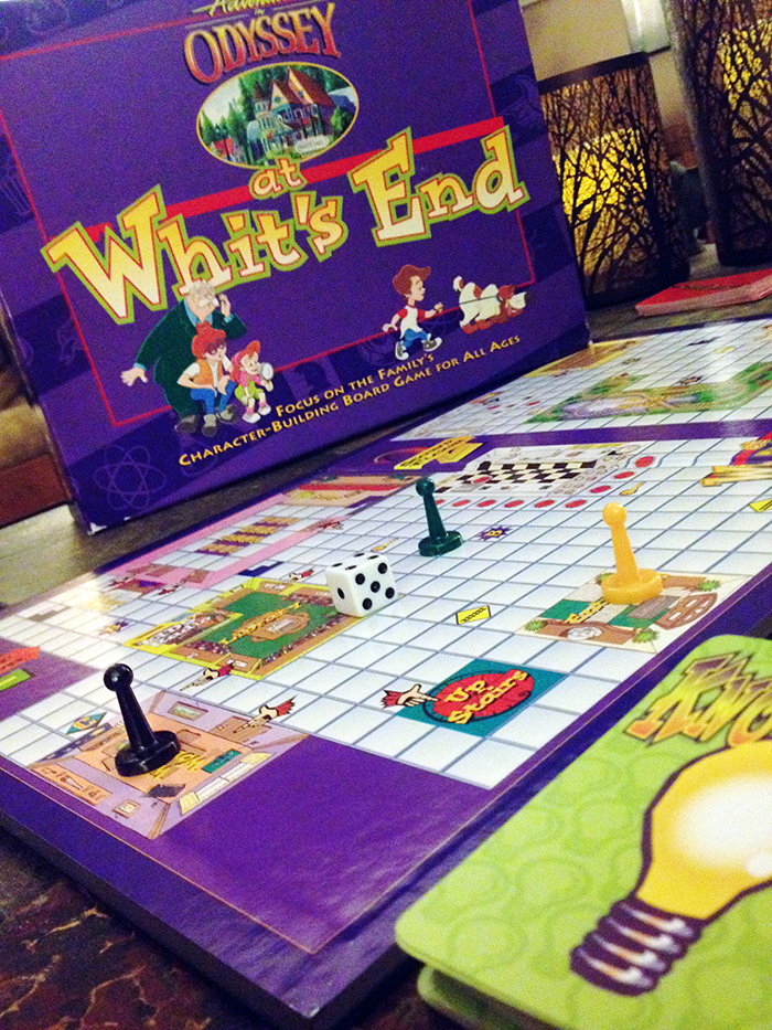 At Whit's End board game Adventures in Odyssey
