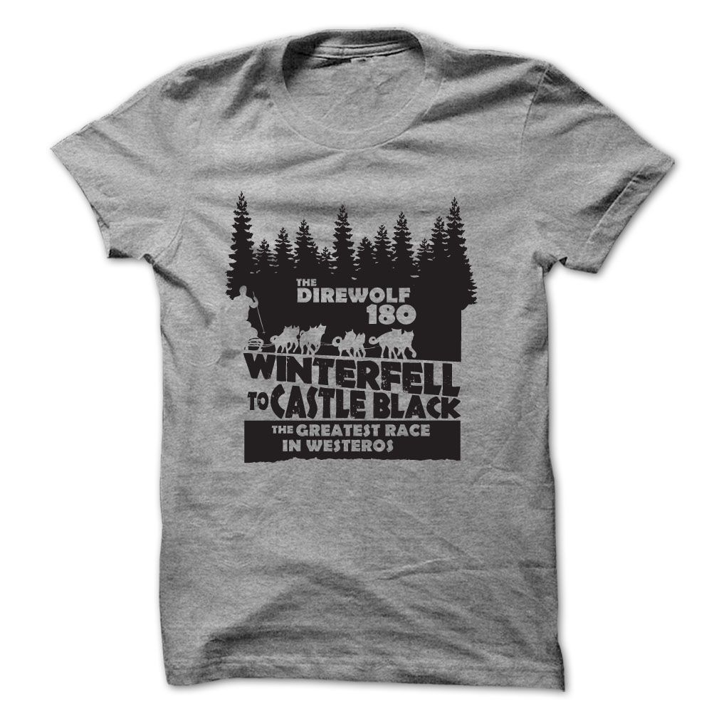 race from winterfell to castle black game of thrones t-shirt