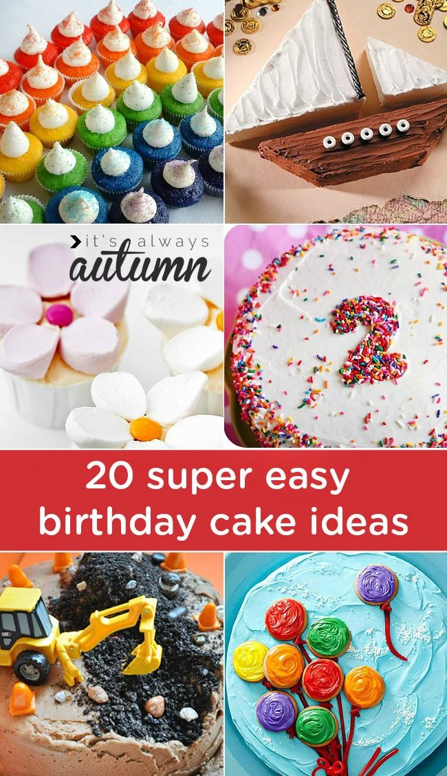 Miraculous 20 Easy Birthday Cakes That Anyone Can Decorate Simple Birthday Personalised Birthday Cards Vishlily Jamesorg