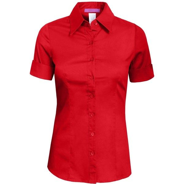 NE PEOPLE Womens Tailored SHORT Sleeve Button Down Shirt ($18 ...