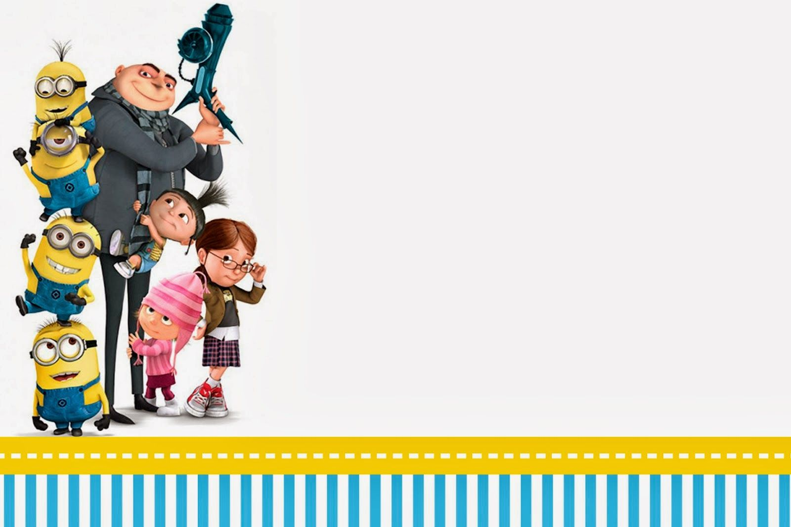 Despicable Me Invitations And Party Free Printables FREE - Birthday invitation maker minions