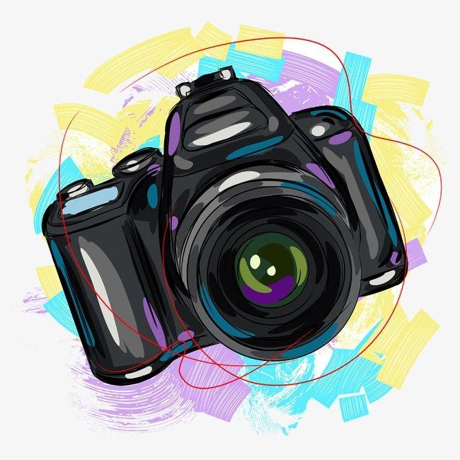 الة تصوير خلاق كرتون مرسومة باليد Png وملف Psd للتحميل مجانا Camara De Fotos Dibujo Dibujos Camaras Fotograficas Dibujo De Camara