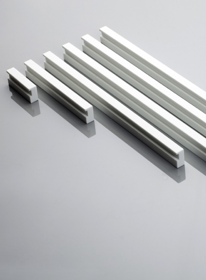 Linie 9 furniture handles in Corian by V. Ambroz for Amos Design _