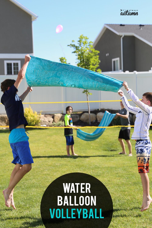 Water Balloon Volleyball Hilarious Summer Water Game It S Always Autumn Summer Outdoor Games Fun Outdoor Games Outdoor Water Games