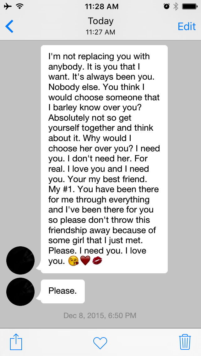 Best Friend Wrote Me A Paragraph When I Was Mad At Her She Was