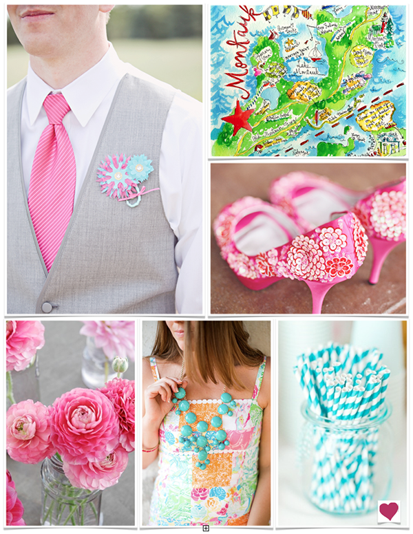 Lilly Pulitzer Inspired Wedding Inspiration Board