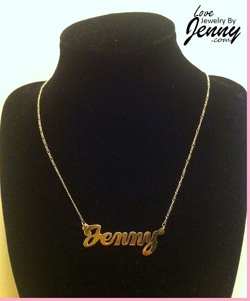 10k Gold Classic Name Necklace Dainty Diamond Necklace Diamond Cross Necklaces Name Necklace