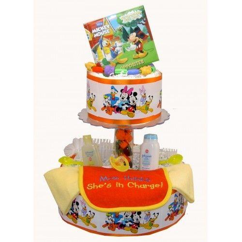 Disney Baby Shower Theme Disney Diaper Cake Baby Shower Ideas