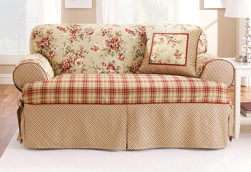 Heavyweight Cotton Duck One Piece Sofa Slipcover
