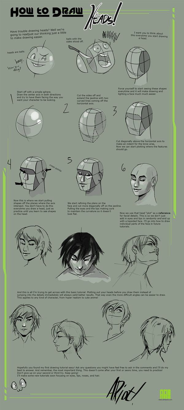 how to draw heads by jocelynada on deviantart how to draw