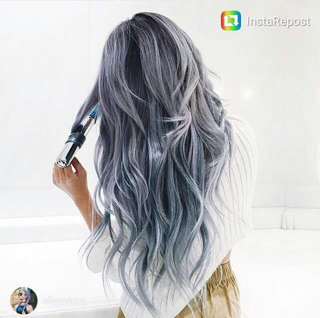 Winter Silver Gray Blue Steel Hair Styles Hair Color Crazy Grey Hair Wig