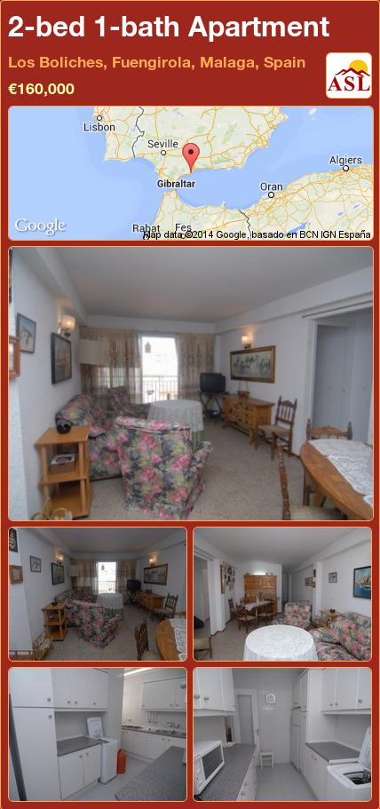 2-bed 1-bath Apartment in Los Boliches, Fuengirola, Malaga, Spain ►€160,000 #PropertyForSaleInSpain
