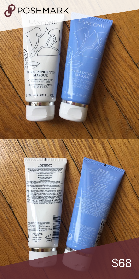 Mask Set Lancôme clay and moisturizing masks