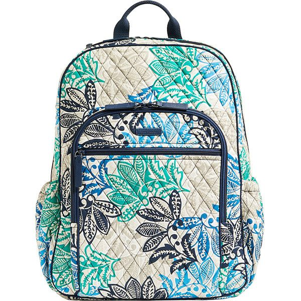 5df5ebb9d Vera Bradley Campus Tech Backpack - Santiago - School Backpacks ($108) ❤  liked on Polyvore featuring bags, backpacks, blue, blue bag, backpack bags,  ...
