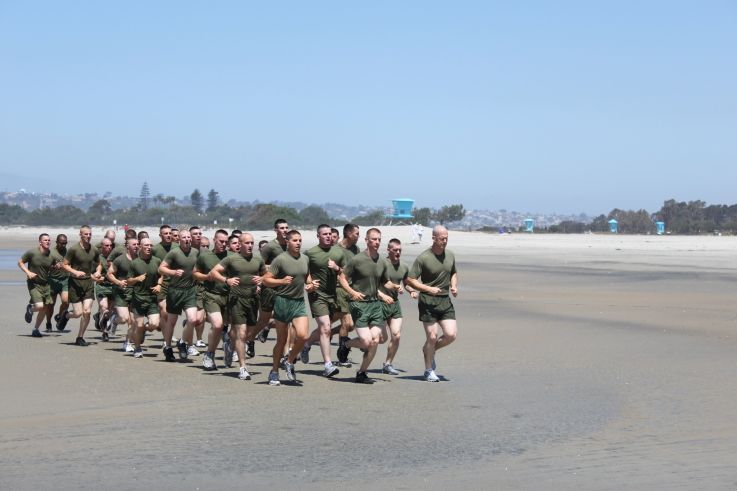 Us Navy Seal Training Beach Runs On Coronado Ca