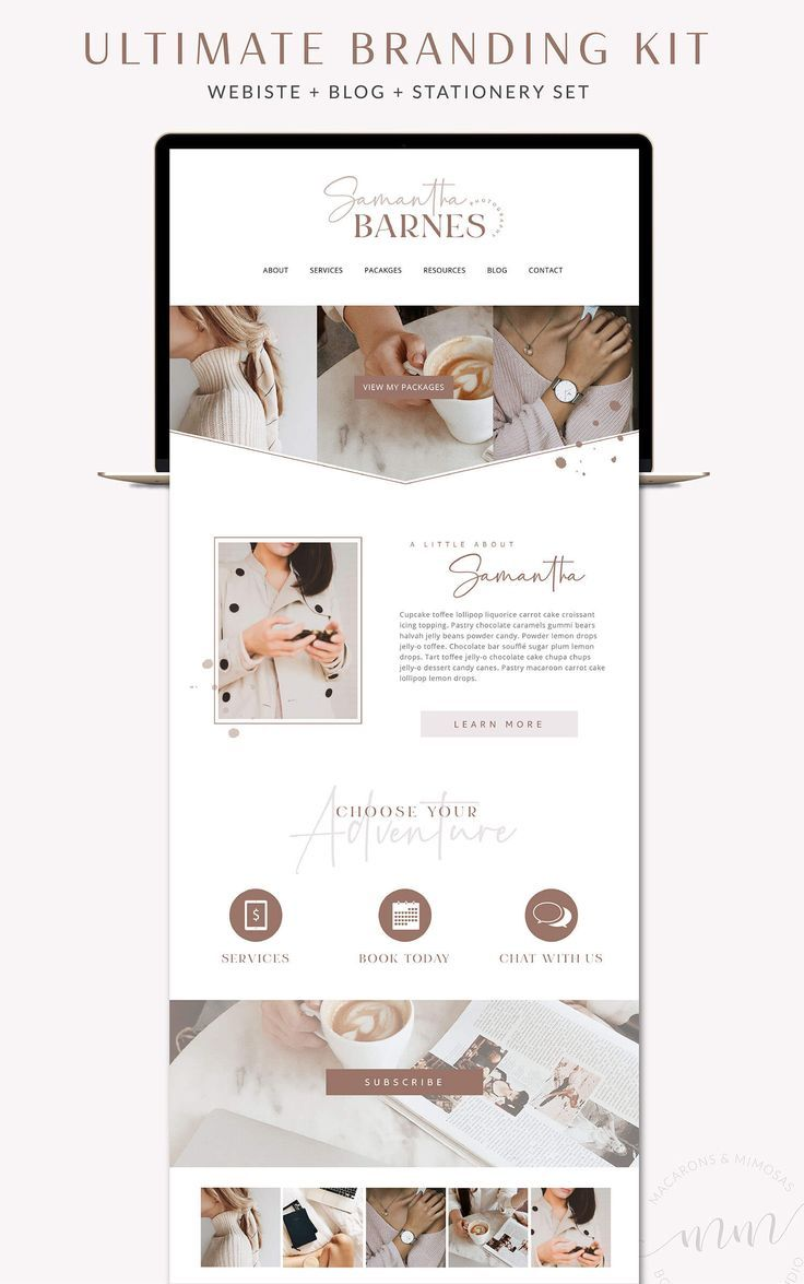 Samantha // Website, Blog, Social Media Bundle • Blog Graphics Kit