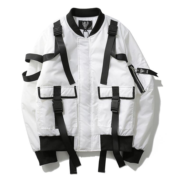 Wholesale Punk Style Jacket Men Padded Bomber Jacket