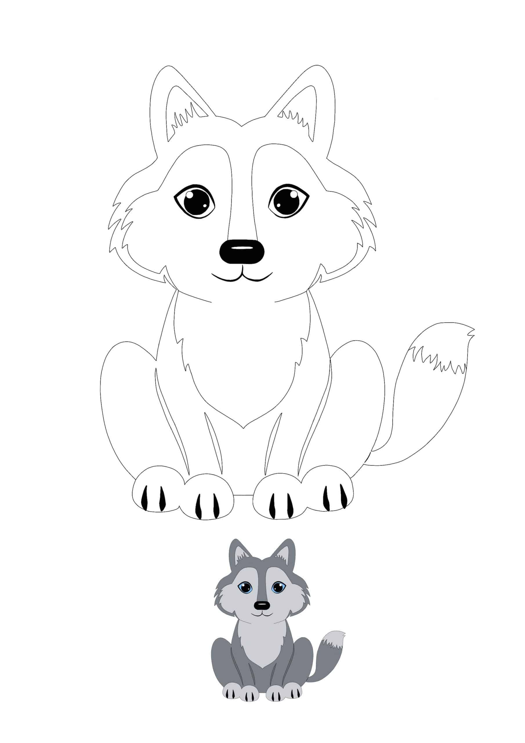 Kawaii Wolf Coloring Page With Sample Coloring Pages Free Printable Coloring Sheets Free Printable Coloring Pages