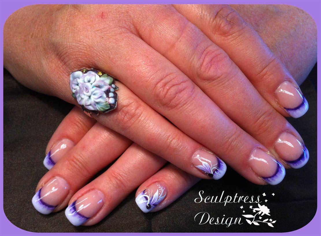 Gel Nails Designs   Customers nails at 3 week fill, no lifting ...