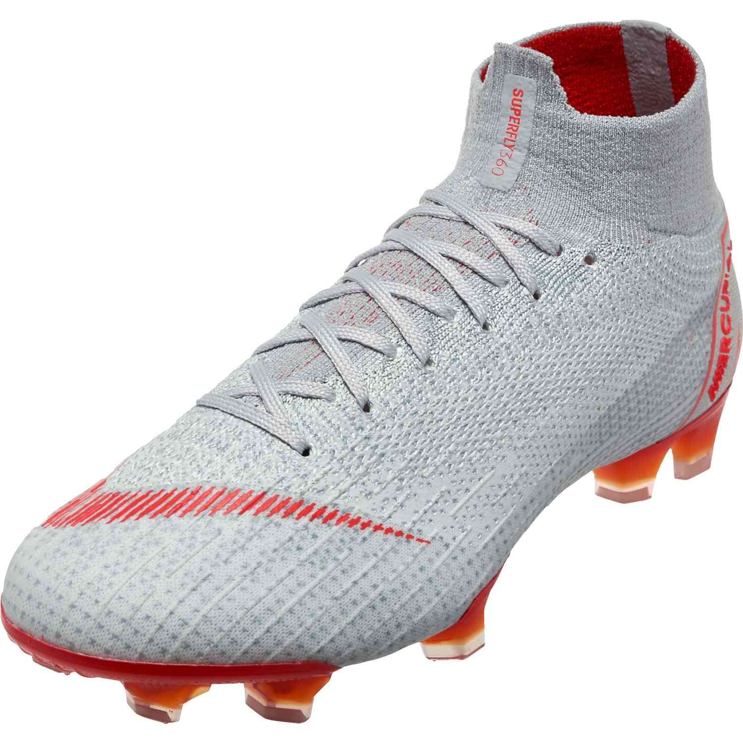 Nike Superfly 6 Elite Fg Wolf Grey Light Crimson Pure Platinum Soccerpro Superfly Soccer Cleats Rugby Boots Nike Soccer Shoes