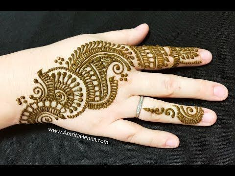 Mehndi Party Entertainment Ideas : Cute party mehendi design easy level beautful arabic mehndi henna