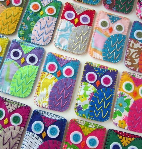 Your Choice Felt Owl Ipod Iphone Case Cozy by lovahandmade on Etsy, $