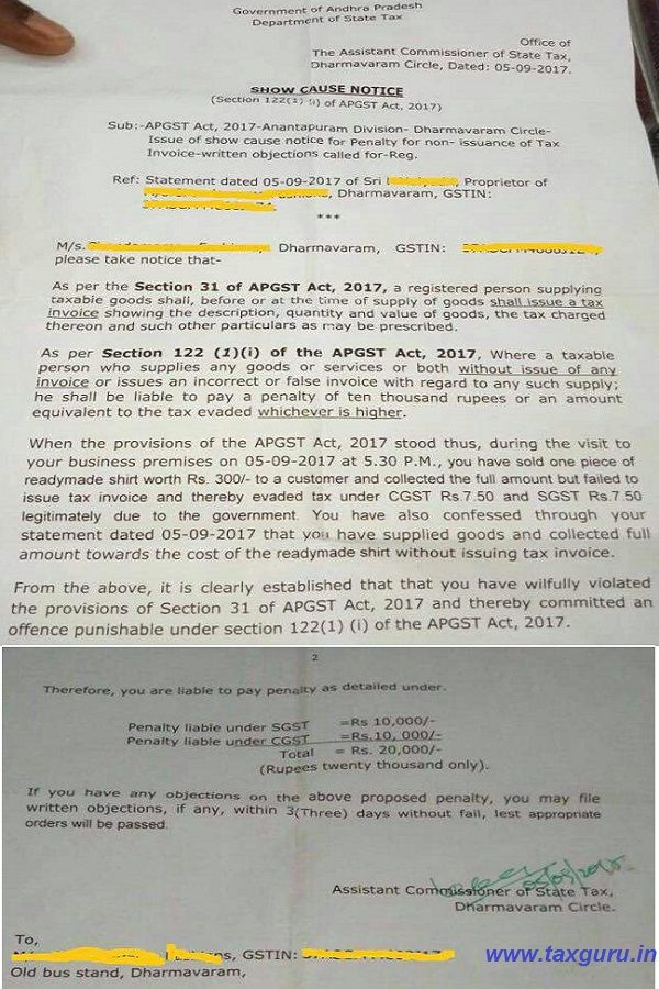 Rs 20000 Penalty for GST of Rs 15 -   taxguruin/goods-and - tax invoice