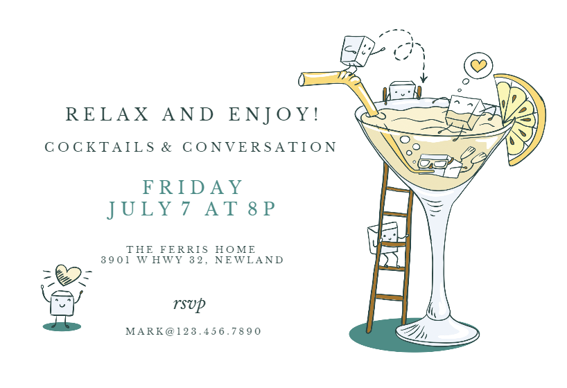 Happy Hour Invitation Template Customize Add Text And Photos
